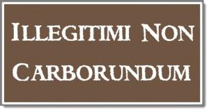Illegitimi Non Carborundum by CreateYourWoodSign.com