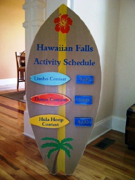 Business wooden signs for a water park in Texas