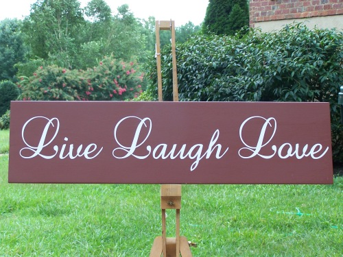 Live Laugh Love Wall decor wood sign by CreateYourWoodSign.com