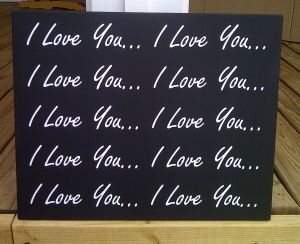i love you i love you wood sign